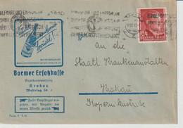 GENERALGOUVERNEMENT; Mi. 78, Krakau  17. IX. 43, Werbeumschlag Der Barmer Ersatzkasse - Occupation 1938-45