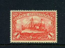 GERMAN SOUTH WEST AFRICA  -  1906-19 Yacht Definitive 1m Hinged Mint - Colonie: Afrique Sud-Occidentale