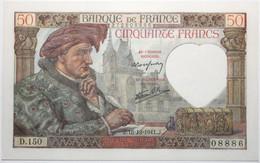 France - 50 Francs - 18-12-1941 - PICK 93a.17 / F19.17 - NEUF - 50 F 1940-1942 ''Jacques Coeur''