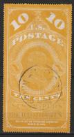 Etats Unis - Newspaper Stamps - N°PR Obl (1875) 10c Jaune - Giornali & Periodici