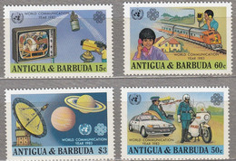 ANTIGUA BARBUDA 1983 Communication Train Police Car TV MNH(**) Mi 709-712 #28533 - Antigua And Barbuda (1981-...)