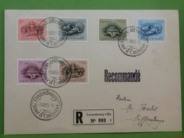 Lettre Recommandé 1955, Série Caritas - Storia Postale