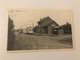 Carte Postale Ancienne MARANSART La Gare - Lasne
