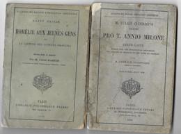 Alliance Des Maisons D'éducation Chrétienne. Lot De 2 Livrets, Un En Grec (édit. 1879), L'autre En Latin (édit. 1891) - School