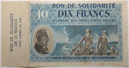 France - 10 Francs - 1940 - Bon De Solidarité - TTB+ - Bons & Nécessité