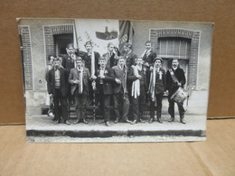 ENNORDRES (18) Carte Photo Groupe De Conscrits Tambour De Ville - Altri Comuni