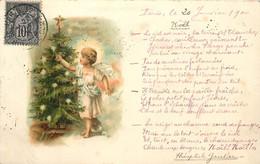 ENFANT ET SAPIN DE NOËL - Carte De 1900. - Altri