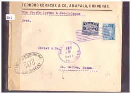 HONDURAS - COURRIER CENSURE POUR LA SUISSE - VOIR 2 IMAGES POUR LES DETAILS - !!! NO PAYPAL !!! - Honduras