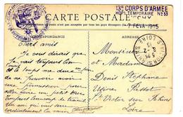 47613 - 13e Corps D'Armée/Hopital Temporaire  N° 53 - Oorlog 1914-18
