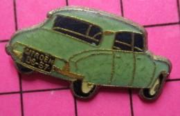 SP18 Pin's Pins / Beau Et Rare / THEME : AUTOMOBILES / GRAND PIN'S CITROEN DS 1957 BLEU CIEL - Birra
