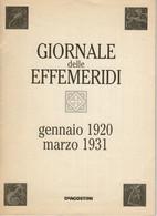 Effemeridi EPHEMERIDES-01 1920-03 1931-Astronomia-Orbite-Distanze Pianeti-Astri-ASTROLOGIA-value Calculated Astronomical - Matematica E Fisica