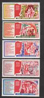 USSR (Russia) - Mi 4516-4520 - XXV Congress Of Communist Party - 1976 - MNH - Nuevos