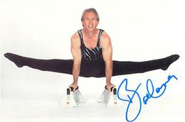 Bart Conner, USA Gymnastics, Olympic Gold Medal Signed Mint Postcard (G126-61) - Gymnastiek