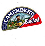 A A 166  /   ETIQUETTE DE   FROMAGE  DEMI    CAMEMBERT BONAMI - Cheese