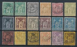 "EC-86: FRANCE: Lot Avec Type ""SAGE"" Obl Et Neufs N°74-75*-77-80-81-82-83*-85*-88*-90*(2)-91/95-99 (assez Belles Obl) - 1876-1898 Sage (Type II)"