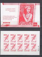 POLYNESIE. CARNET A USAGE COURANT ROUGE Emblème Postal CD 04 11 19 Scan Recto Verso - Cuadernillos/libretas