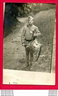 CARTE PHOTO (Réf : X1000)  «MILITARIA GUERRE 1914-1918» A IDENTIFIER Avec Tambour - Guerra 1914-18
