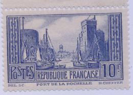 FRANCE 1929-31 - LA ROCHELLE  YT 191 Neuf Sans Charnière ** - Cote 170€ (une Dent Courte) - Ungebraucht
