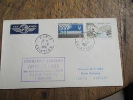 1er Vol Premiere Liaison Japan Air Lines Douglas Dc 8 Paris Tokyo - 1961-....