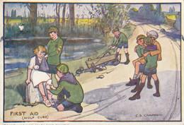 Illustrateur Anglais : C S Chapman : First Aid  ///  Ref.  Mai. 21 // N° 15.568 - Autres Illustrateurs