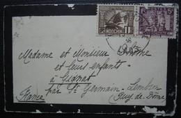 Indochine 1936, Petite Lettre Pour Gignat Par Saint Germain Lembron Puy De Dôme - Cartas