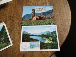 Andorre  Lot 4 Cm Carte Maximum  1957 - Cartas Máxima