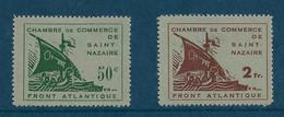 France Timbres De Guerre N°8/9 Chambre De Commerce De St Nazaire Cote 370€. - Oorlogen