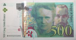 France - 500 Francs - 1995 - PICK 160a.2 / F76.2 - SPL - 500 F 1994-2000 ''Pierre Et Marie Curie''