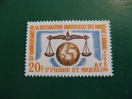 SAINT PIERRE ET MIQUELON YVERT POSTE ORDINAIRE N° 370 NEUF** LUXE COTE 8,10 EUROS - Ongebruikt