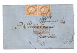 "BFE. TURQUIE - CONSTANTINOPLE GC.5083 S/paire TP N°38 + Càd Type 15 + ""PD""noir - 1873 - Sin Clasificación"