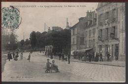 94 - JOINVILLE-LE-PONT - Le Quai Beaubourg - Le Bureau De PosteRare !!! - Joinville Le Pont