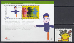 2006 Azores Acores Europa CEPT Children's Art Complete Set Of 1 + Souvenir Sheet MNH@ BELOW FACE VALUE - 2006