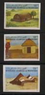Mauritanie - 1982 - N°Yv. 510A à 510C - Habitat - Non Dentelé / Imperf. - Neuf Luxe ** / MNH / Postfrisch - Mauritanië (1960-...)