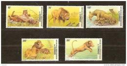 Congo 2002 OBCn° 2094-98 *** MNH Cote 13,50 Euro Faune Leeuwen Lions - Ongebruikt