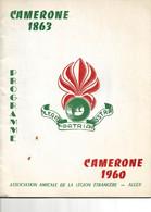 PROGRAMME CAMÉRONE DE 1960 ASSOCIATION AMICALE DE LA LÉGION ÉTRANGÈRE  ALGER. - Programmi