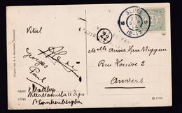 Carte-Vue SLUIS NL 23 SEP 1914 Vers ANVERS -  Griffe De Censure VERIFIEE PAR L'AUTORITE MILITAIRE - Invasión