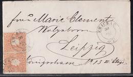 Sachsen Brief Mef Minr.2x 15 Zwickau 30.1.67 Gel. Nach Leipzig - Sachsen
