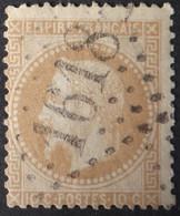 28B (cote 8 €) Obl GC 1618 Gan (64 Basses Pyrénées ) Ind 9 : Frappe Nette Et TB Centrée - 1849-1876: Klassik
