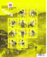 Les 10 Vainqueurs Belges Tour De France - Van Impe-Merckx-Maes-De Waele-Buyze - 10v Sheet Belgique Neuf/Mint/MNH - Ciclismo