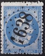 22 Variété Dentelure, Obl GC 1638 Genlis (20 Cote D'or ) Ind 4 ; Frappe Très Nette Et TB Centrée - 1849-1876: Klassik