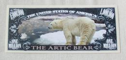 USA 'Polar Bear' 1 Million Dollar Novelty Banknote - Wildlife Series - UNC & CRISP - Other - America