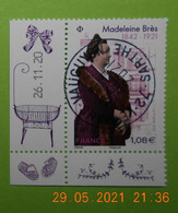 FRANCE 2020   MADELEINE  BRES  1842-1921     Timbre  Neuf   Cachet   ROND  DATE - Used Stamps