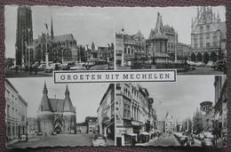 """Mechelen / Malines - Mehrbildkarte """"Groeten Uit Mechelen"""" / Auto! - Mechelen"""