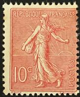 YT 129 (**) MNH 1903-24, (Type I) Semeuse Lignée 10c Rose (côte 32 Euros) France – Kr3lot - 1903-60 Sower - Ligned