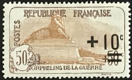 YT 167 (*) MH Neuf 1922 Orphelins De La Guerre Lion De Belfort (côte 27 Euros) – Kr3lot - Unused Stamps
