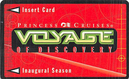 Princess Cruises Voyage Of Discovery Inaugural Season Game Card - Other