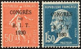 YT 264 265 (*) MH Semeuse Lignée Pasteur 1930, Congrès Du B.I.T. (24 Euros) France – Kr3lot - Unused Stamps