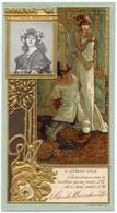 CHROMO  A LEFEVRE UTILE  LU  MME SARAH BERNHARDT  ILLUSTRATION THEODORA (ACTE 4) - Lu