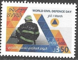 WORLD CIVIL DEFENCE DAY, 2021, MNH, FIRE FIGHTERS, FIREFIGHTING,  1v - Feuerwehr