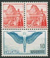 Schweiz 1938 Nat. Briefm.-Ausstellung Herzstück Aus Block A 327/B 327 Postfrisch - Unused Stamps